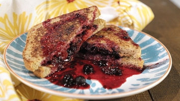 Healthyish Berry and Almond Butter-Stuffed French Toast