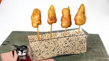 Chicken & Waffles On A Stick!