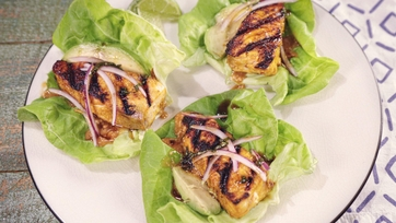 Salmon Satay Lettuce Wraps