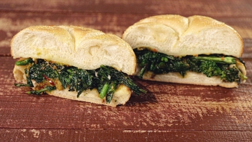 Spicy Broccoli Rabe & Provolone Sandwiches