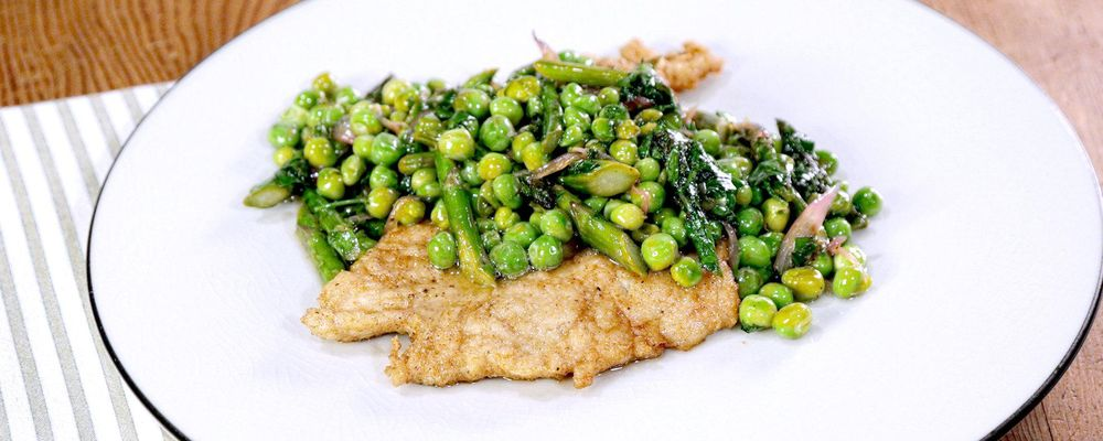 Chicken Scaloppine with Asparagus & Peas Recipe by Michael ...