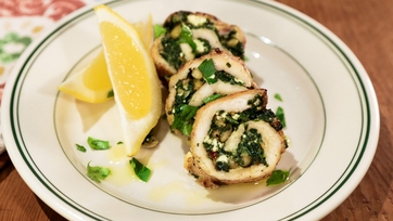 Spinach and Feta Chicken Roulade