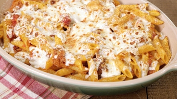 Baked Penne with Pork Ragu