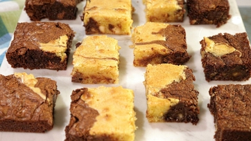Triple Chocolate Swirl Brownies