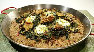 kale and mushroom paella recipe the chew. Black Bedroom Furniture Sets. Home Design Ideas
