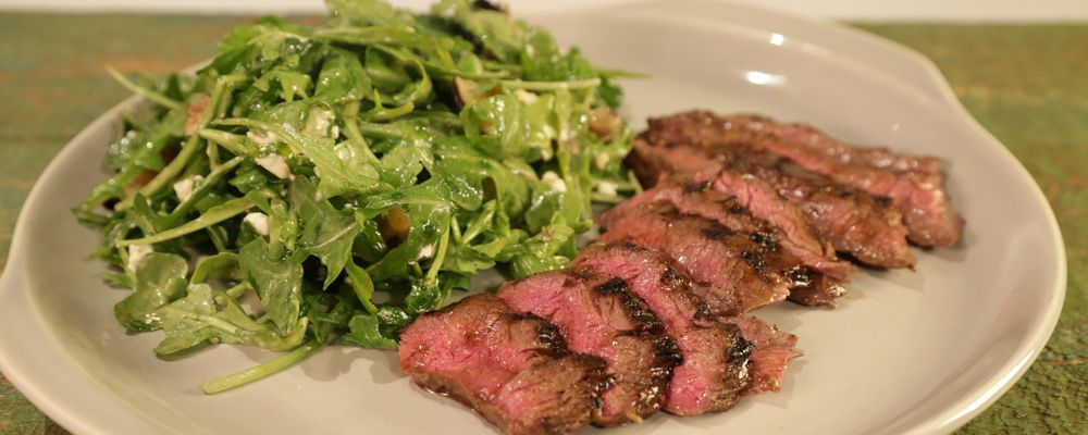 flank steak marinated flank steak flank steak and arugula salad recipe ...