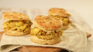Curry Chicken Salad with Cumin Biscuit