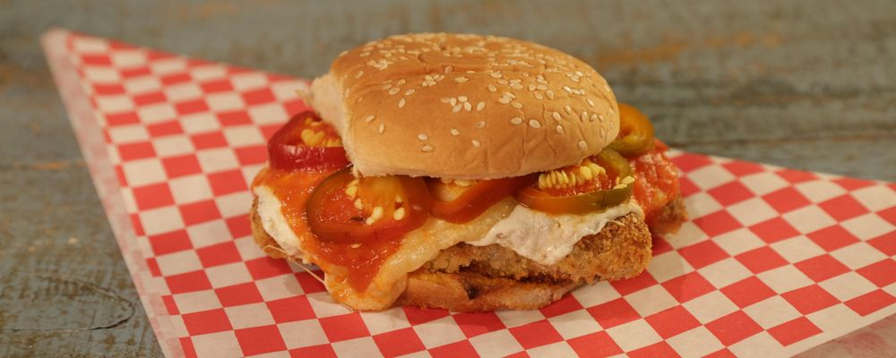 Fried Chicken Parm Sandwiches with Pickled Cherry Peppers Recipe by ...