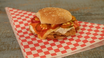 Fried Chicken Parm Sandwiches with Pickled Cherry Peppers