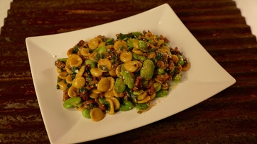 Orecchiette with Ramps & Favas