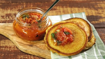 Tomato Jam and Johnnycakes