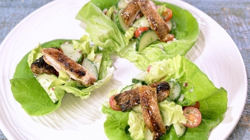 Grilled Chicken with Green Goddess Salad
