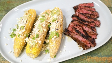 Skirt Steak with Chipotle Mexican Corn