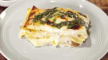 White Lasagna with Potatoes & Pesto