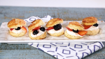 Berries, Biscuits & Cream