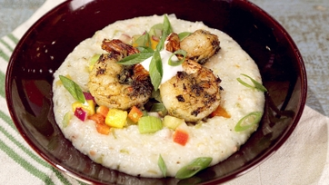 Jerk Shrimp with Nassau Grits