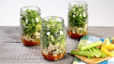 Layered Crab Cocktail Salad
