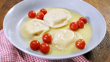 Ricotta and Herb Ravioli with Classic Alfredo