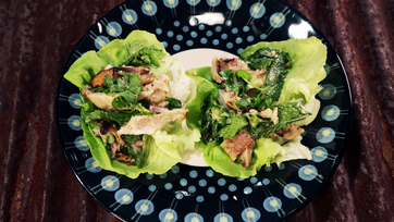 Grilled Chicken Lettuce Cups with Fresh Herbs & Chiles