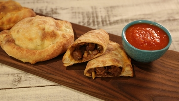 Calzones with Zucchini and Eggplant Caponata