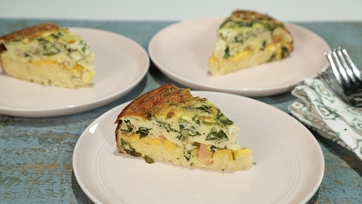 Cheesy Collards Quiche
