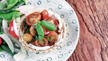 Tomato, Basil and Herbed Ricotta Tartlets