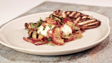 Marinated Peach and Burrata Salad