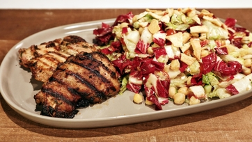 Rosemary Lemon Grilled Chicken with Chopped Salad