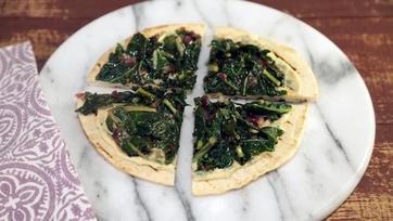 Kale Hummus Flatbreads