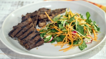 "Korean Short Ribs with ""Banh Mi"" Salad"