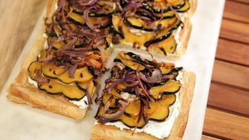 Acorn Squash Goat Cheese Tart