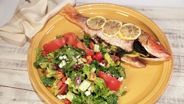 Grilled Snapper with Greek Salad