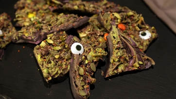 Monster Mash Halloween Candy Bark