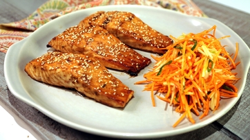Ginger Brown Sugar Soy-Glazed Salmon
