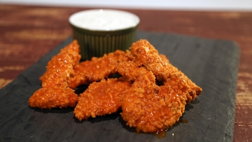 Buffalo Chicken Tenders with Yogurt Ranch