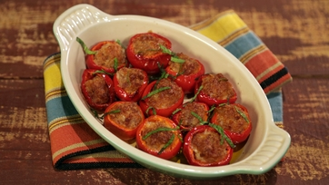 Stuffed Cherry Pepper Poppers