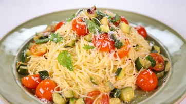 Angel Hair with Zucchini and Mint