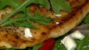 Michael Symon\'s Chicken Cutlet Milanese with Arugula Salad