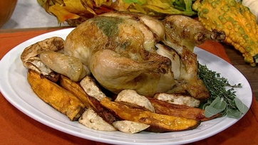 Roasted Chicken with Sweet Potatoes and Sage