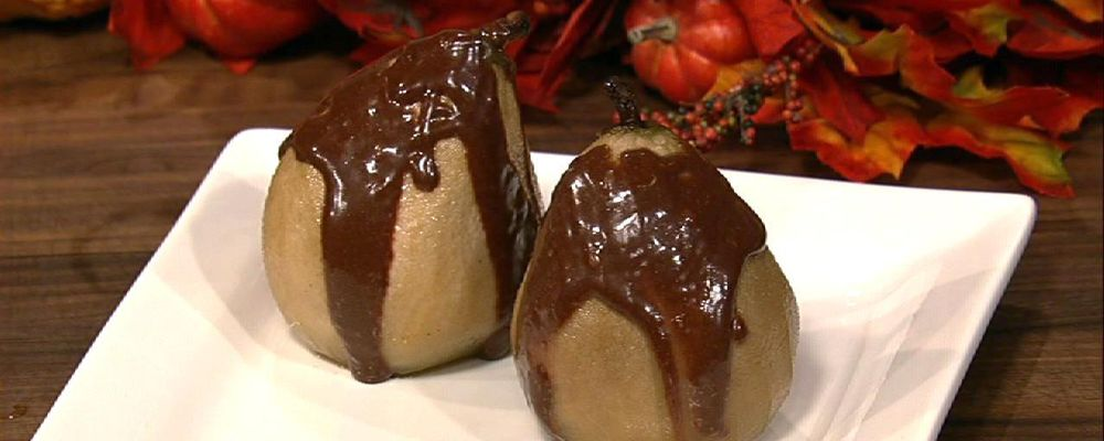 Mario Batali\'s Roasted Pears With Chocolate