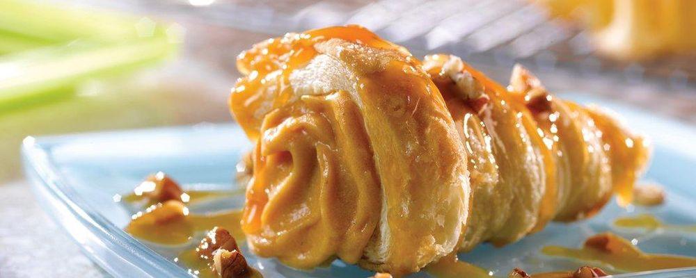 Praline-Pumpkin Mousse Cornucopias