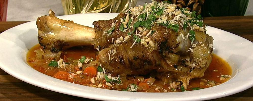 Mario Batali\'s Osso Buco with Toasted Pine Nut Gremolata