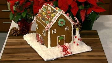 Carla Hall\'s Gingerbread House