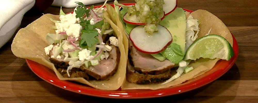 Carla Hall\'s Grilled Pork Tenderloin Tacos