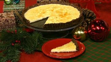Mario Batali\'s Three-Cheese Tart with Chocolate and Orange