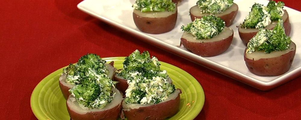New Potatoes with Broccoli and Goat Cheese