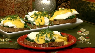 Daphne\'s Eggs Florentine with Spinach