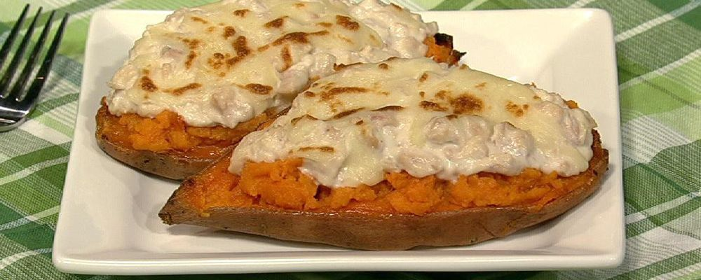 Harley Pasternak\'s Sweet Potato Tuna Melt