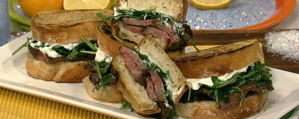 Michael Symon\'s Flank Steak Sandwich