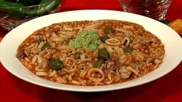Mario Batali\'s Chile Pesto Sauce